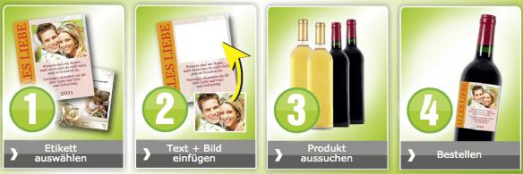 Wein mit Ettikett