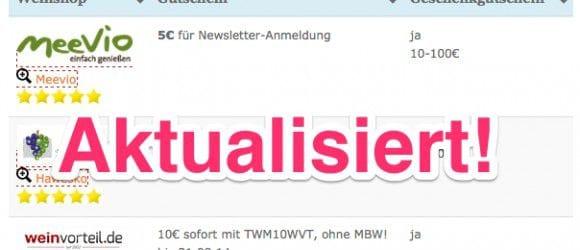 Vergleiche auf Weinkuriere.de jetzt aktualisiert.