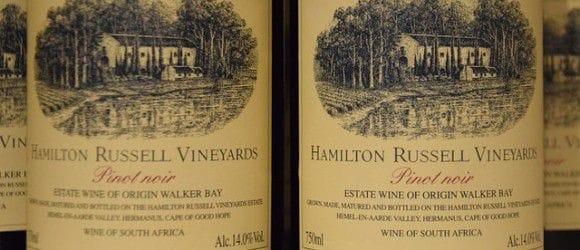 Ein Pinot noir: Hamilton Rusell Vineyards aus Südafrika