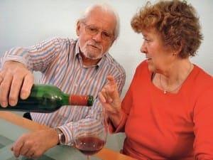 Lieber nur etwas alkoholischer Wein am Abend