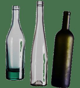 Eine Auswahl an Weinflaschen